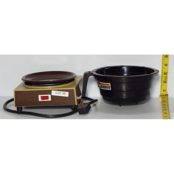 Used Single Coffee Pot Electric Warming Station with Single Coffee Basket