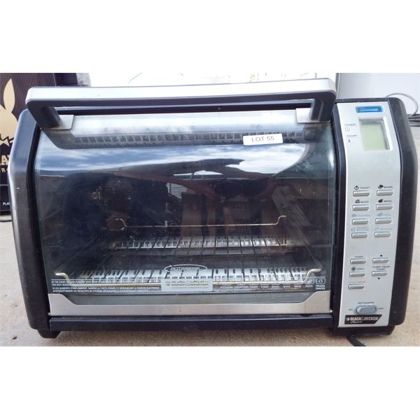 """Used Black & Decker Counter Top Convection Oven - 12"""" Pizza Capacity - With Rotisserie, No Spit"""