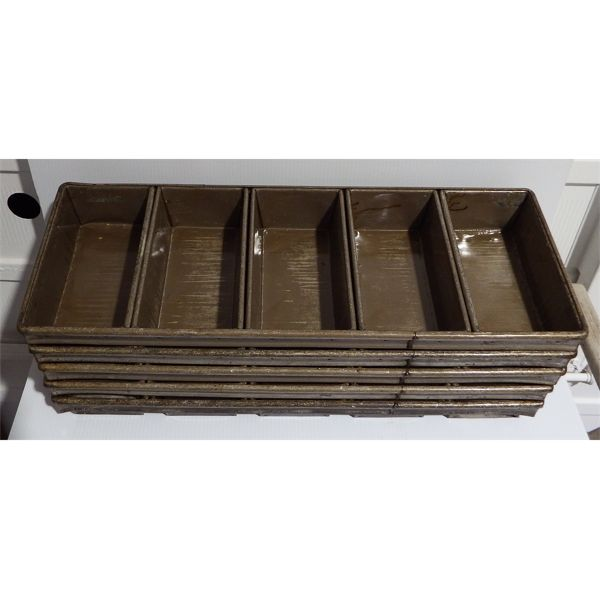 Lot of 5 Used 5 Section Bread Pans