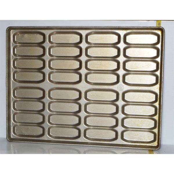 Lot of 12 Used Hot Dog Baking Trays - 32 Buns/Tray