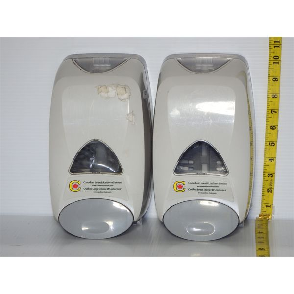 Lot of 2 Used Hand Sanitizer Dispensers Wall Mount