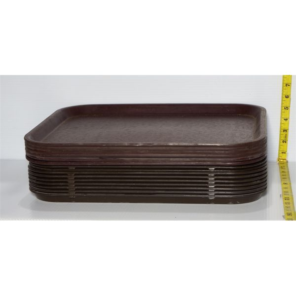 Lot of 15 Used Food Court Trays