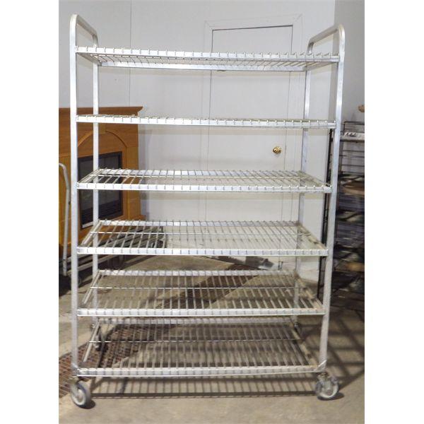 Used Rolling Chrome Shelf 6 Levels
