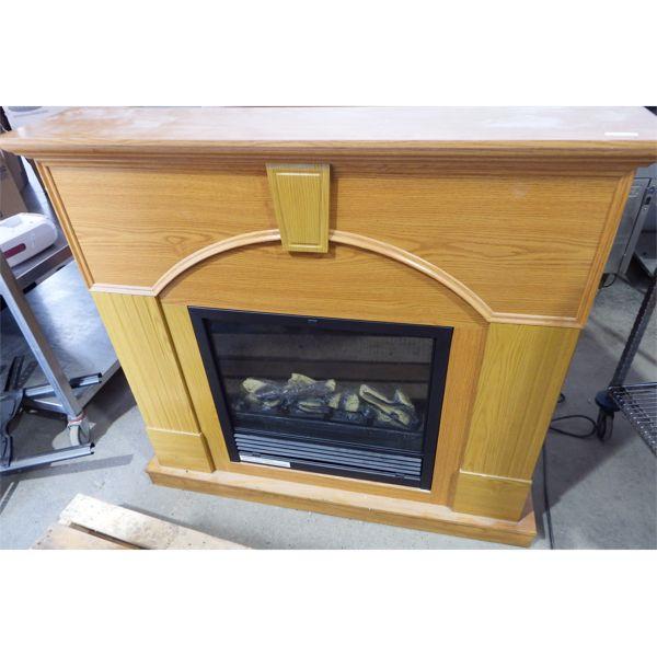 Used Oak Fireplace, Untested