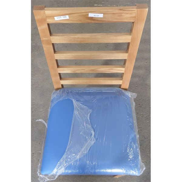 New Wooden Frame Chairs with PL Blue Seat