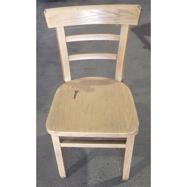 Used Wood Frame Chairs with cushion seat and back rest