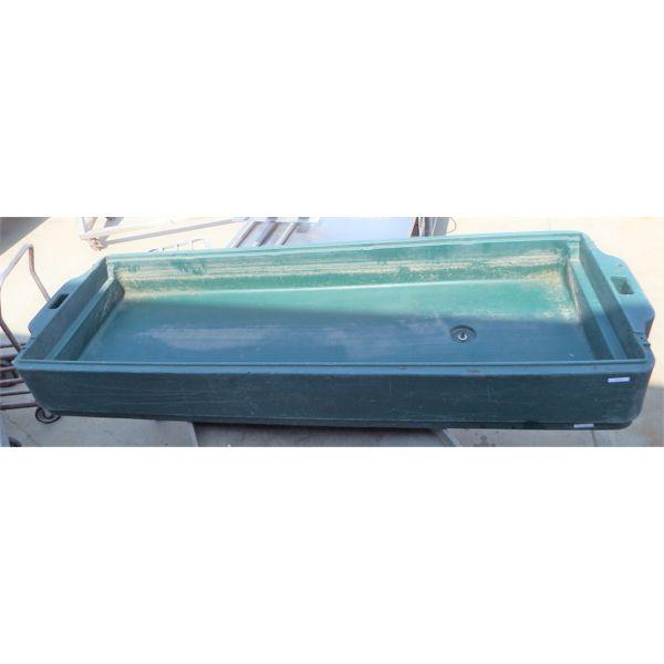 Used Cambro Green Bin 6' with Drain Plug