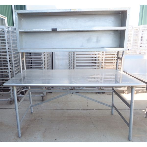 Used 30''x72'' SS Table with Double Over Shelf