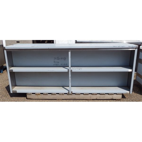 Used 92''X12''x36''H Custom Made 3 Level SS Cabinet