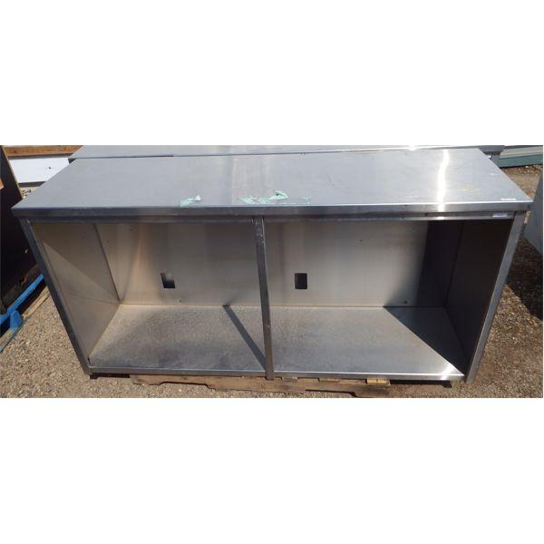 Used 70''x20''x36''H Custom Made SS Cabinet