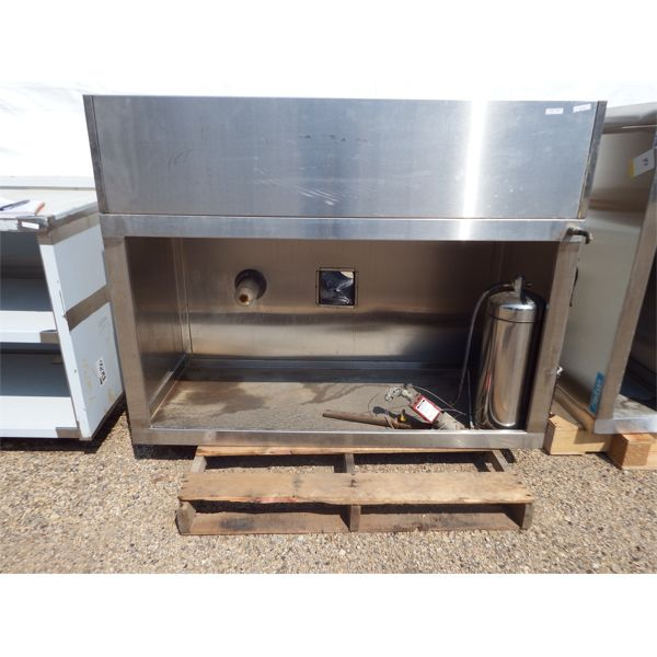 Used 54''x24''x30''H SS Grease Hood with Fire Supression System