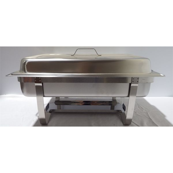 New Full 9L Stainless Steel Chafing Dish with Steel Handle