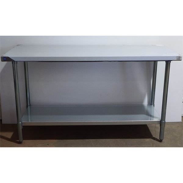 New 24'' x 60'' S/S Work Top Table with Galvanized Legs + Under Shelf