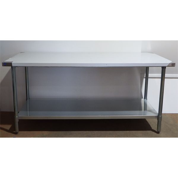 New 30'' x 72'' S/S Work Top Table with Galvanized Legs + Under Shelf