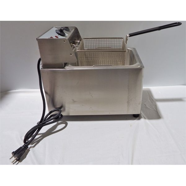 New Countertop Electrical Fryer Stainless Steel 8 L, 220V