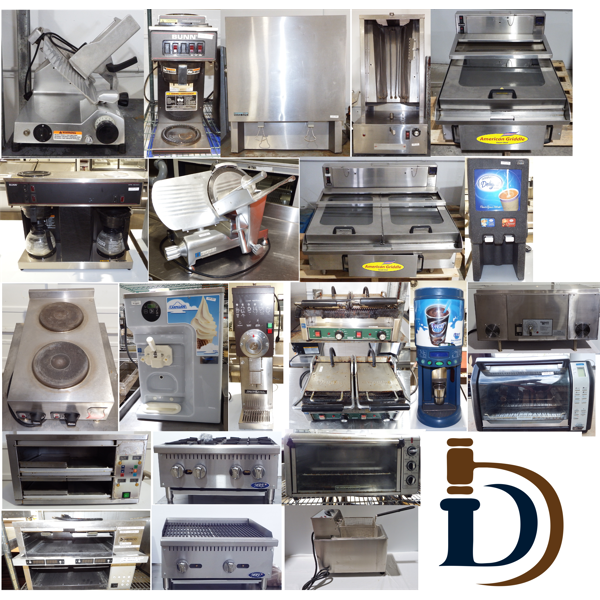 Cooking Equipment in the Auction - these can be found throughout the sale.