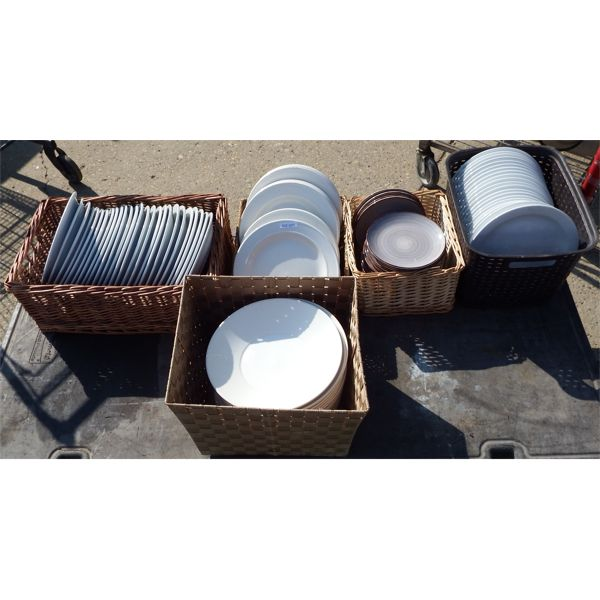 Used - Lot of Miscellaneous High Quality Dudson and Oneida Plates and Pasta Bowls