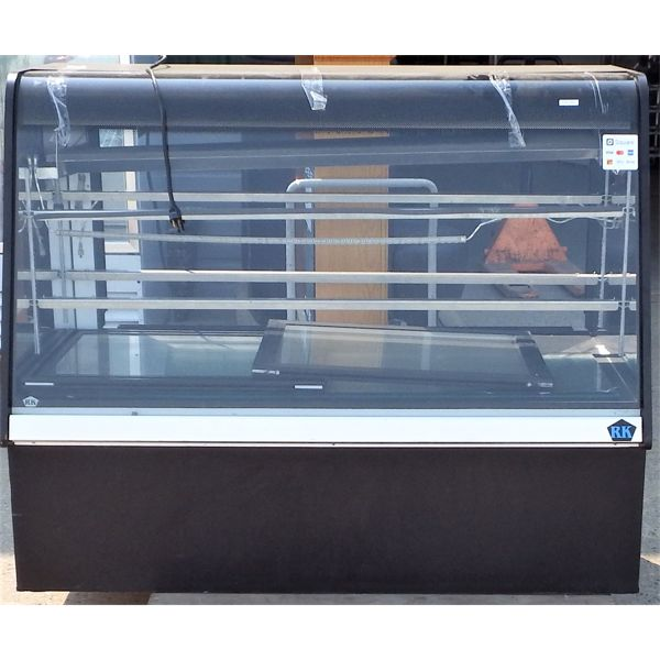 Used - RK Display Cooler Model # RKDC-5-B Front and Rear Access Curved Glass Front