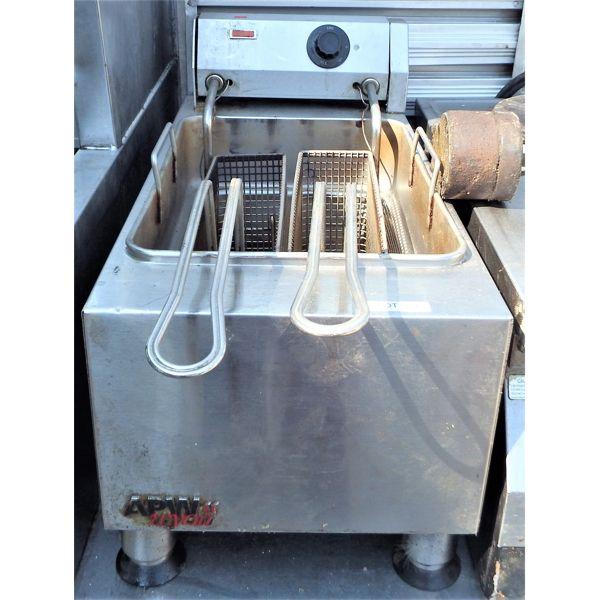 Used - APW Wyott Small Electric 2 Basket Deep Fryer