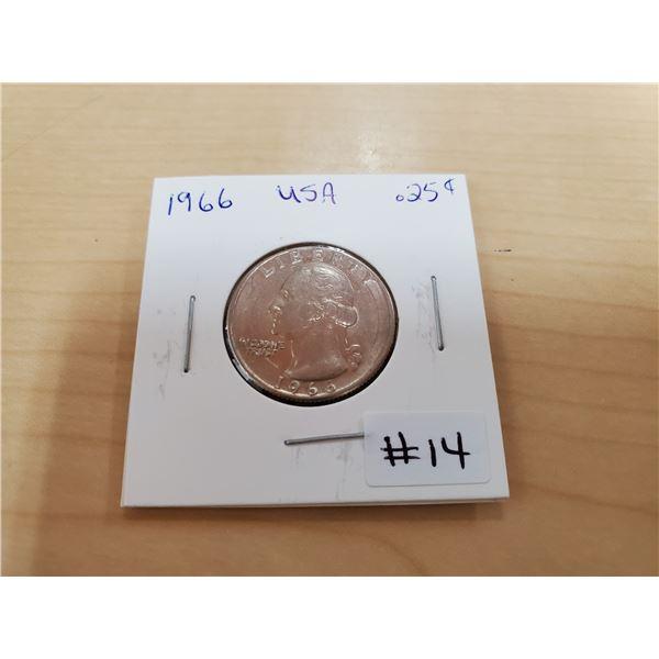 1966 USA quarter