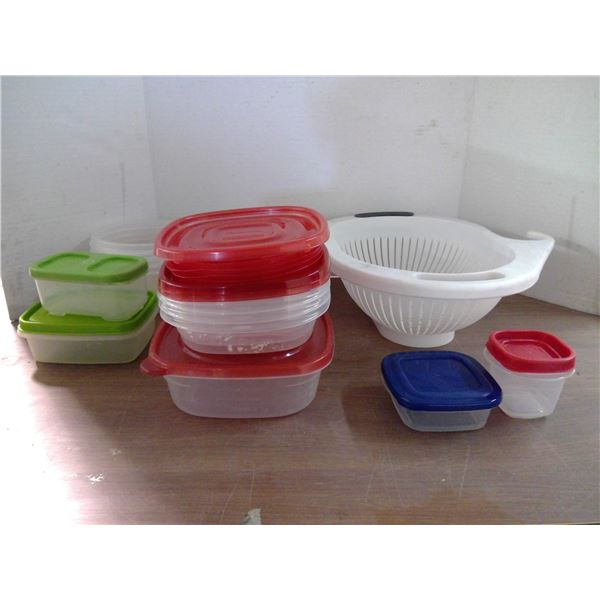 Colander and Tupperware