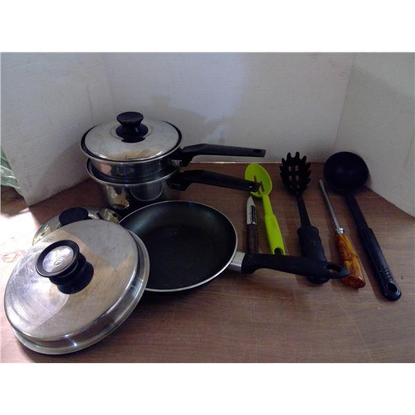 Pan, Double Boiler, Utensils