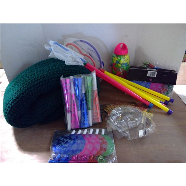 Hand Knit Blanket, Water Balloons Party Supply, Bug Catchers