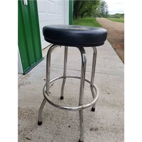 Metal and Leather retro stool