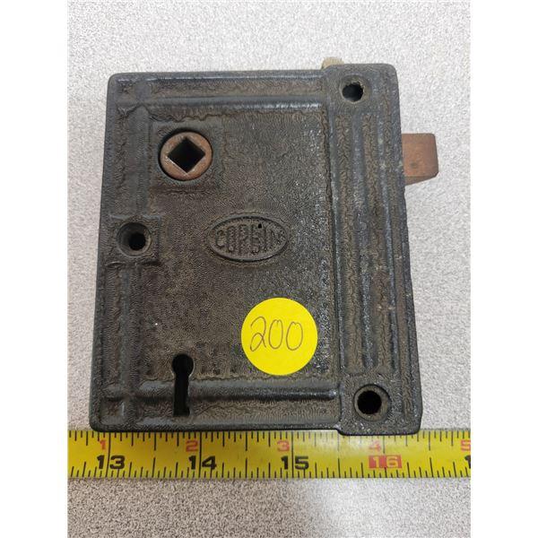 Early Corbin Cast Iron Entry Door Lock Architectural Hardware Bolt