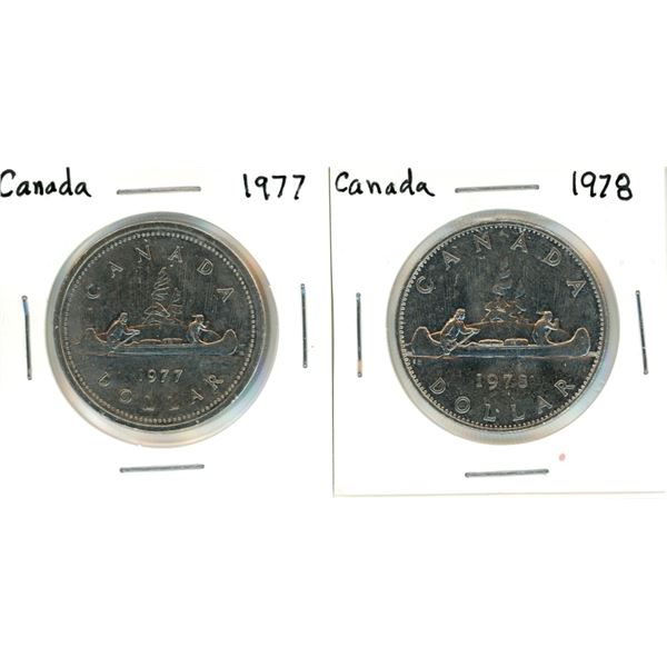 Canada nickel dollars - 1977, 1978