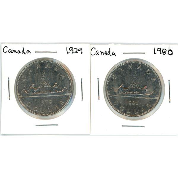 Canada nickel dollars - 1979, 1980