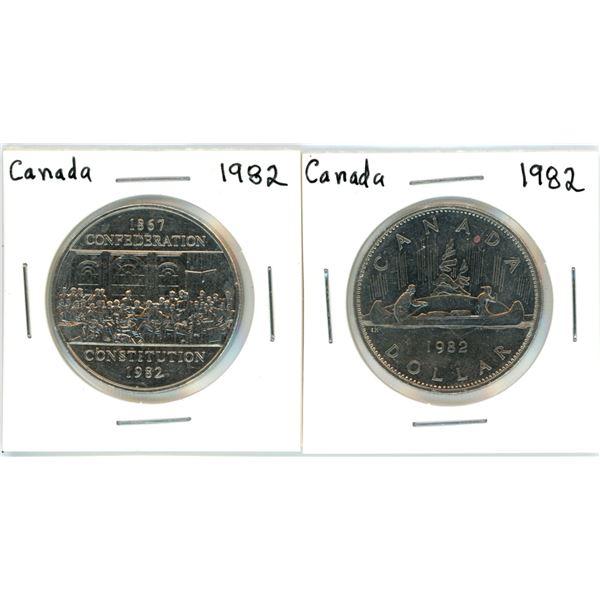 Canada nickel dollars - 1982 X2