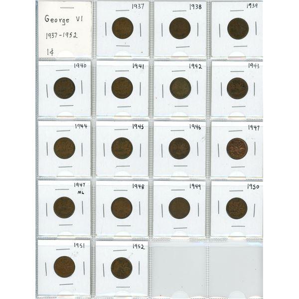 George VI - 1¢ sheet (1937-1952)