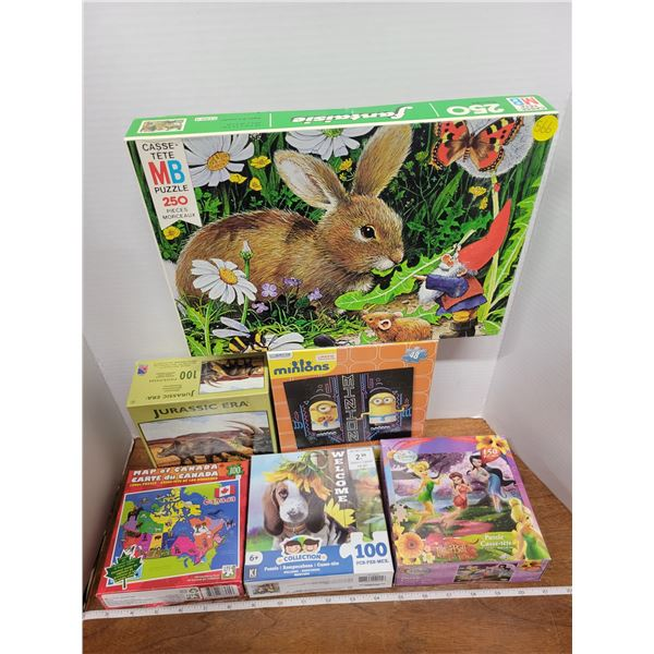 6 assorted puzzles