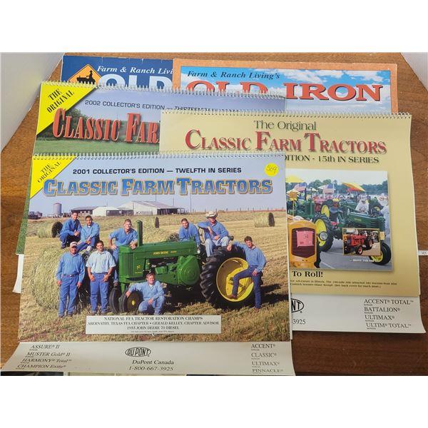 5 classic farm tractor calendars