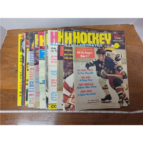 1970-71 Hockey illustrated magazines (11)