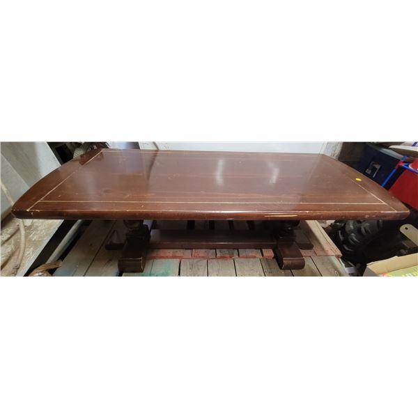 """Wood coffee table (52"""" X 22"""") pine"""