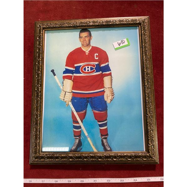Vintage Captain Of The Montreal Canadians (Framed Picture)