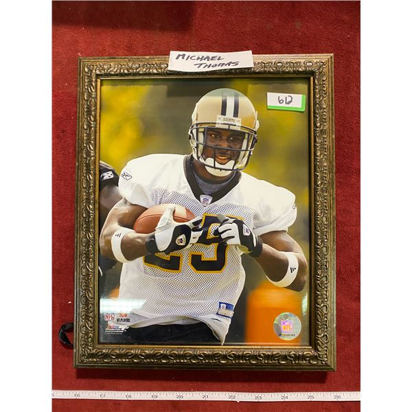 Michael Thomas Football (Framed Picture)