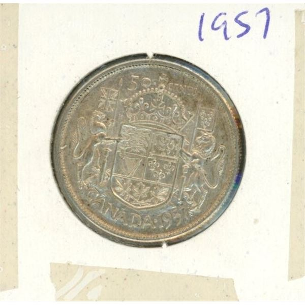 Canadian Silver 50 Cent 1957