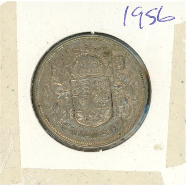 Canadian Silver 50 Cent 1956