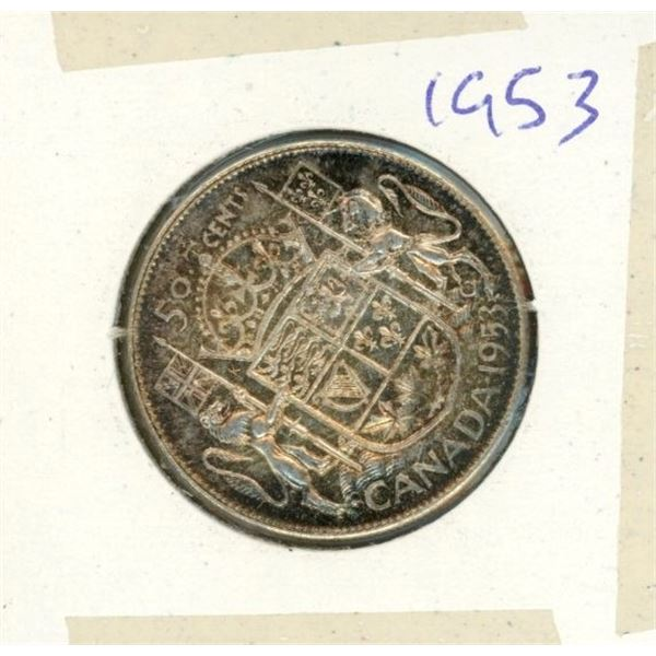 Canadian Silver 50 Cent 1953