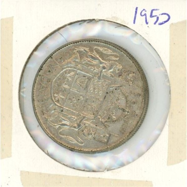 Canadian Silver 50 Cent 1952