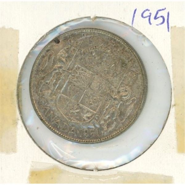 Canadian Silver 50 Cent 1951