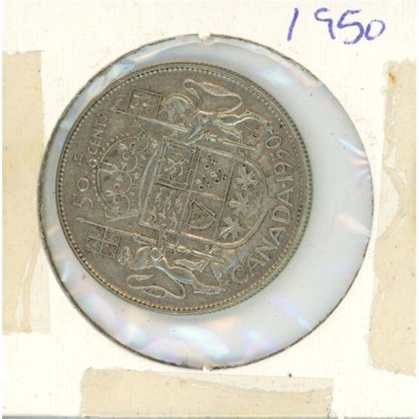 Canadian Silver 50 Cent 1950