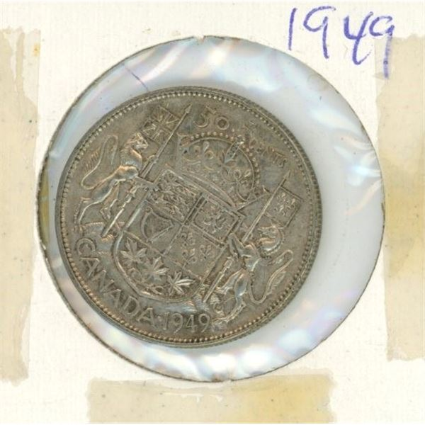 Canadian Silver 50 Cent 1949