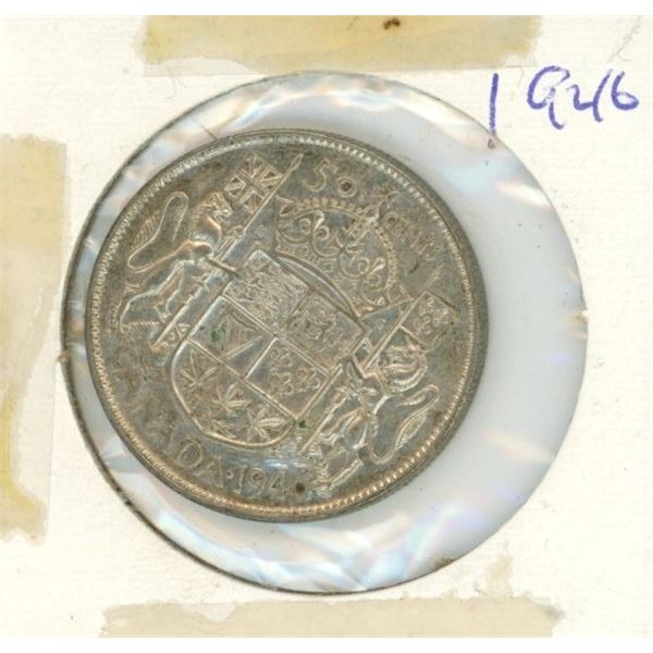 Canadian Silver 50 Cent 1946