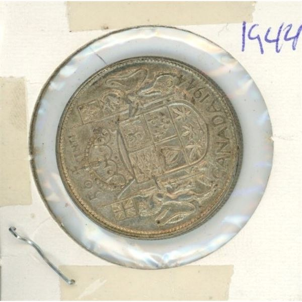Canadian Silver 50 Cent 1944