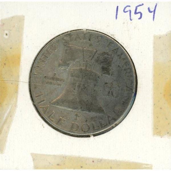 US Half Dollar 1954