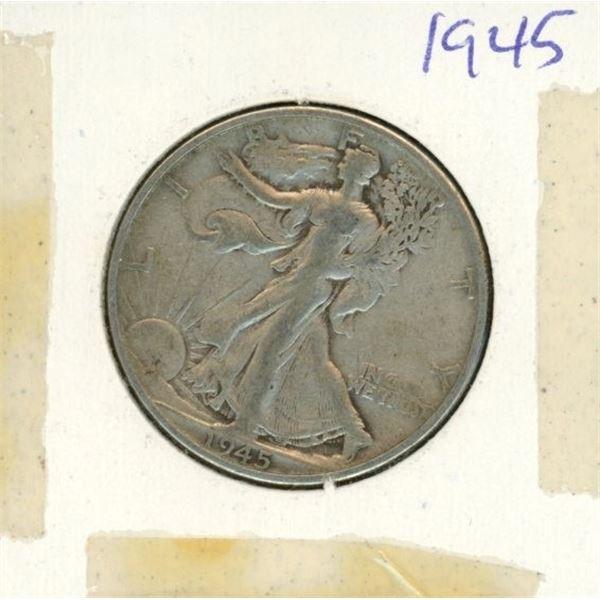 US Half Dollar 1945